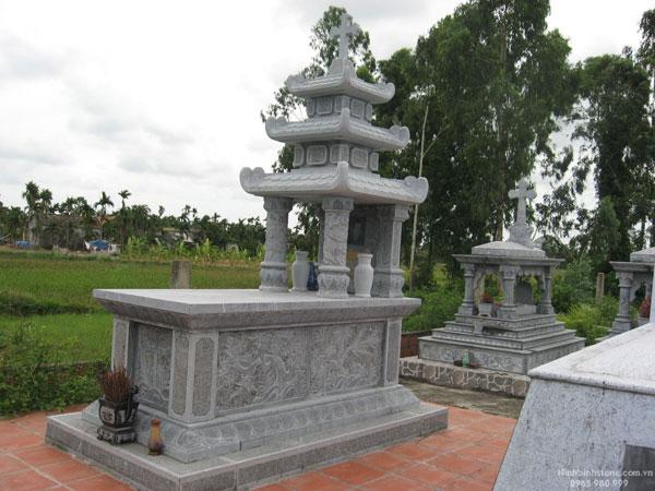 Mẫu mộ công giáo CT 08